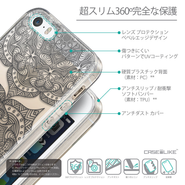 Details in Japanese - CASEiLIKE Apple iPhone SE back cover Mandala Art 2304