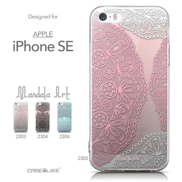 Collection - CASEiLIKE Apple iPhone SE back cover Mandala Art 2305