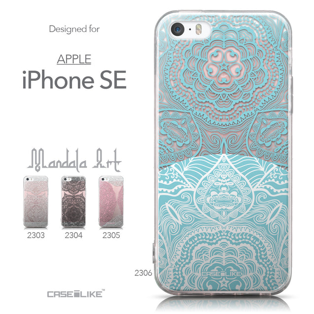 Collection - CASEiLIKE Apple iPhone SE back cover Mandala Art 2306
