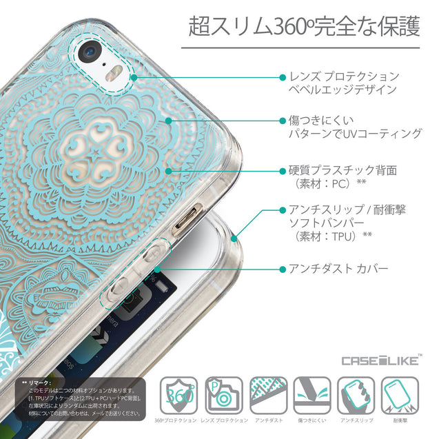 Details in Japanese - CASEiLIKE Apple iPhone SE back cover Mandala Art 2306