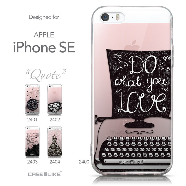 Collection - CASEiLIKE Apple iPhone SE back cover Quote 2400