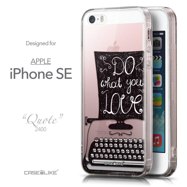Front & Side View - CASEiLIKE Apple iPhone SE back cover Quote 2400