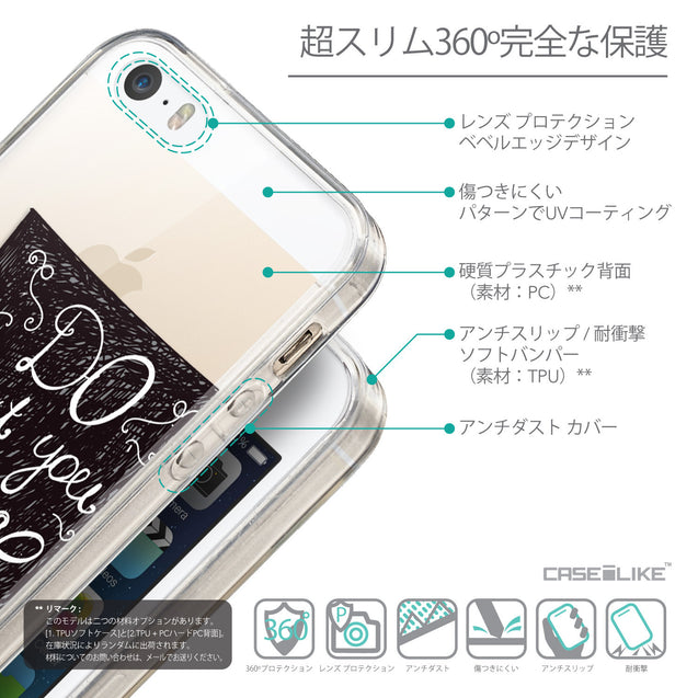 Details in Japanese - CASEiLIKE Apple iPhone SE back cover Quote 2400