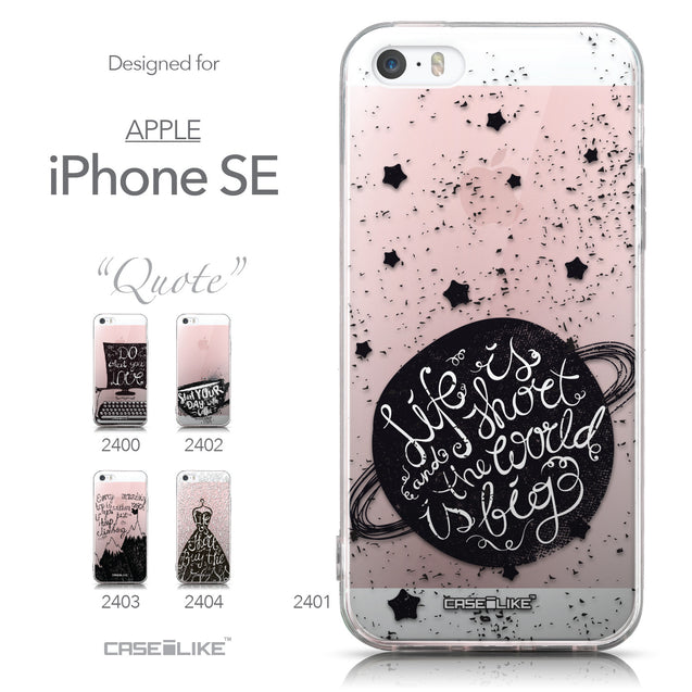 Collection - CASEiLIKE Apple iPhone SE back cover Quote 2401