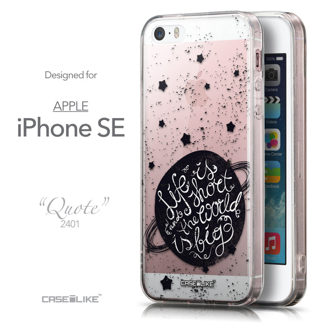 Front & Side View - CASEiLIKE Apple iPhone SE back cover Quote 2401