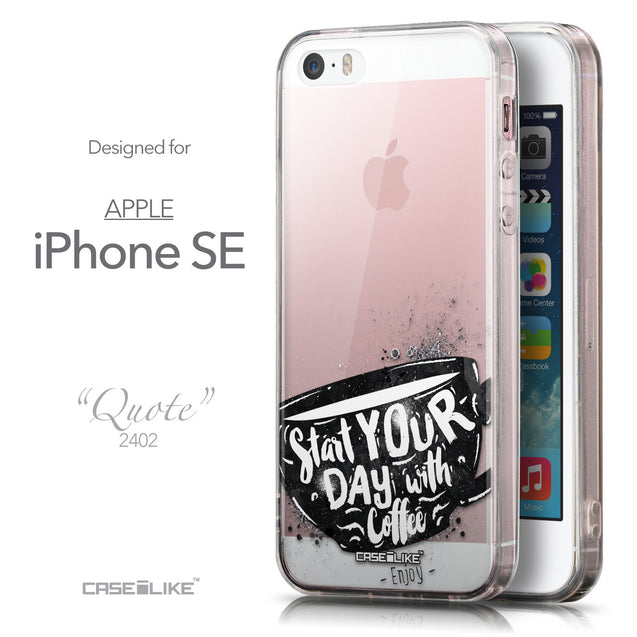Front & Side View - CASEiLIKE Apple iPhone SE back cover Quote 2402