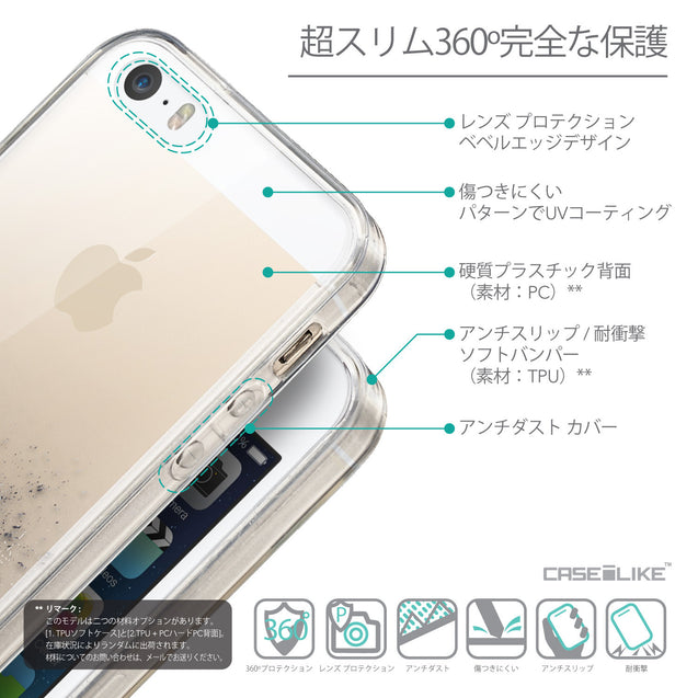 Details in Japanese - CASEiLIKE Apple iPhone SE back cover Quote 2402