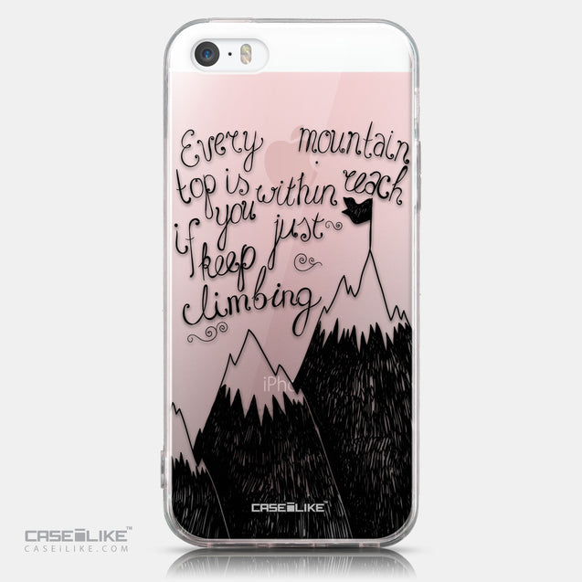 CASEiLIKE Apple iPhone SE back cover Quote 2403