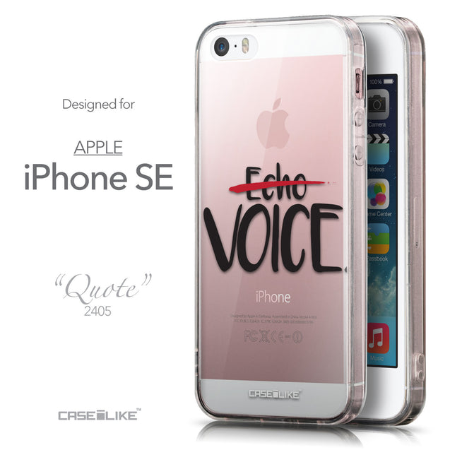 Front & Side View - CASEiLIKE Apple iPhone SE back cover Quote 2405