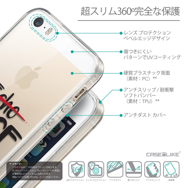 Details in Japanese - CASEiLIKE Apple iPhone SE back cover Quote 2405