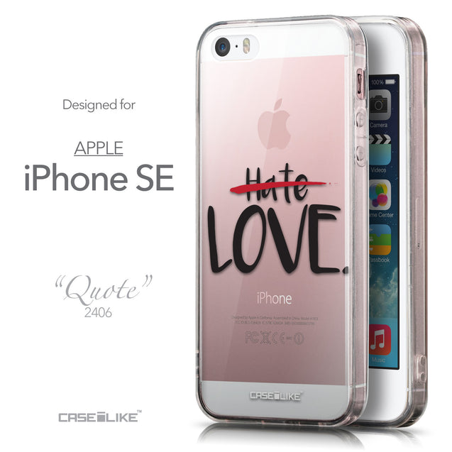 Front & Side View - CASEiLIKE Apple iPhone SE back cover Quote 2406