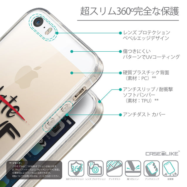 Details in Japanese - CASEiLIKE Apple iPhone SE back cover Quote 2406