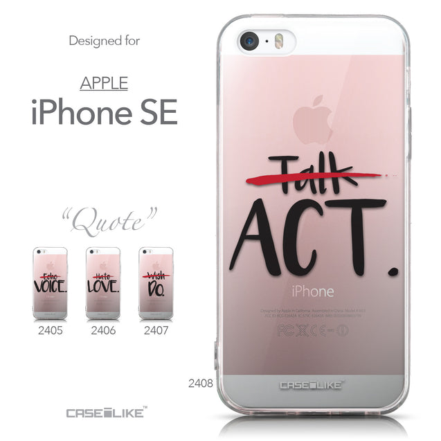 Collection - CASEiLIKE Apple iPhone SE back cover Quote 2408