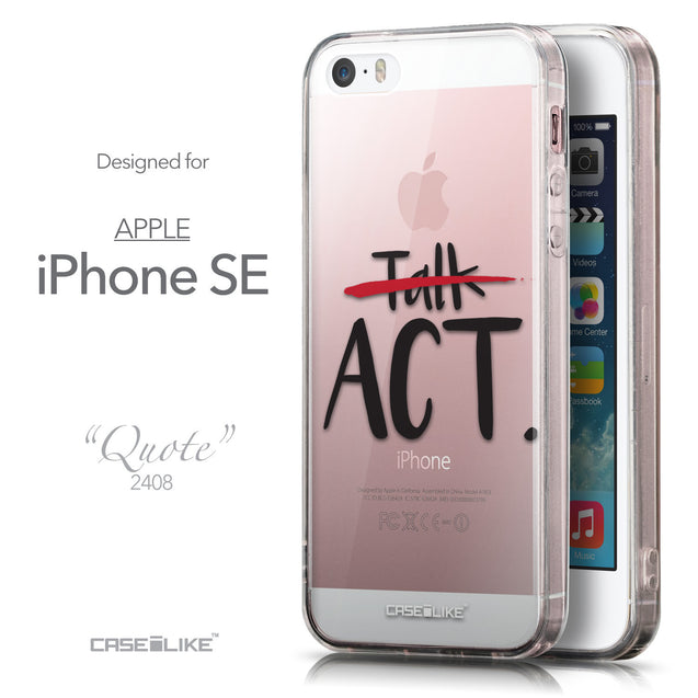 Front & Side View - CASEiLIKE Apple iPhone SE back cover Quote 2408