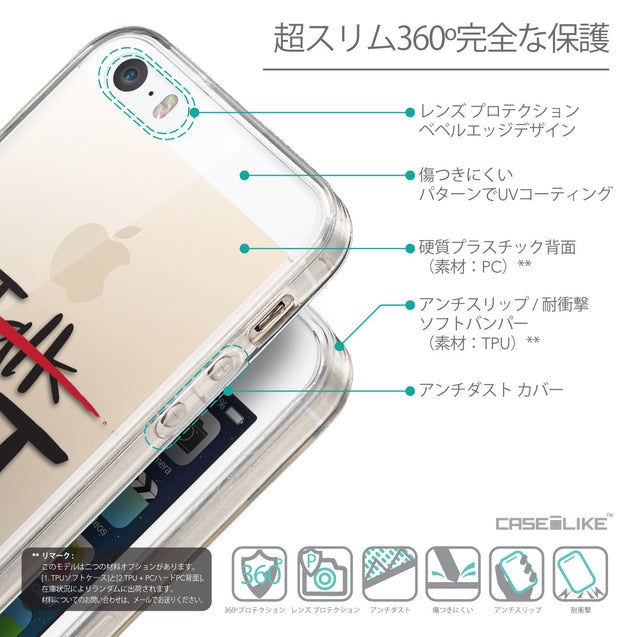 Details in Japanese - CASEiLIKE Apple iPhone SE back cover Quote 2408