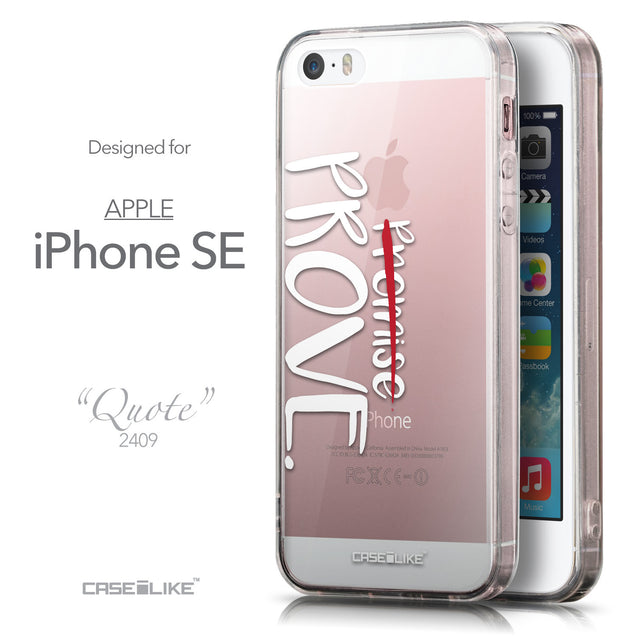 Front & Side View - CASEiLIKE Apple iPhone SE back cover Quote 2409