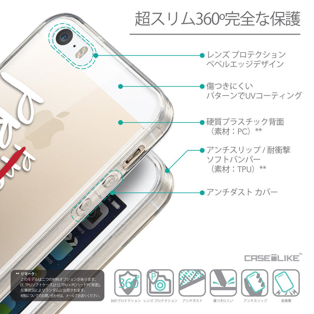 Details in Japanese - CASEiLIKE Apple iPhone SE back cover Quote 2409