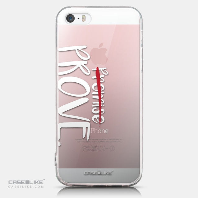 CASEiLIKE Apple iPhone SE back cover Quote 2409