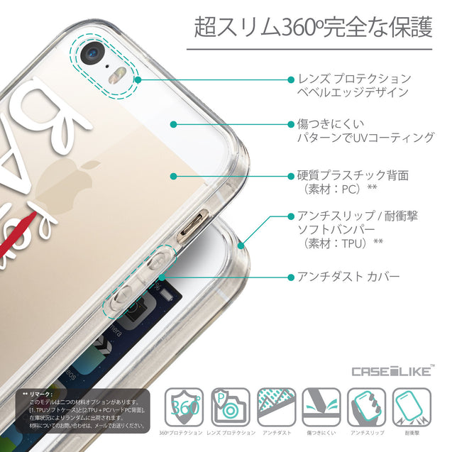 Details in Japanese - CASEiLIKE Apple iPhone SE back cover Quote 2410