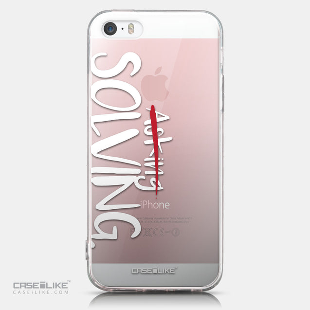 CASEiLIKE Apple iPhone SE back cover Quote 2412