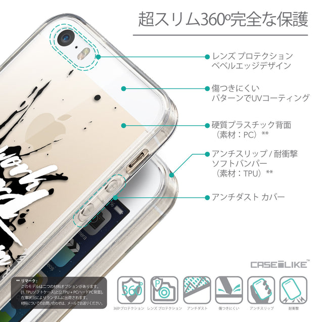 Details in Japanese - CASEiLIKE Apple iPhone SE back cover Quote 2414
