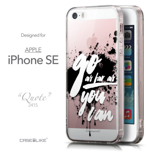 Front & Side View - CASEiLIKE Apple iPhone SE back cover Quote 2415