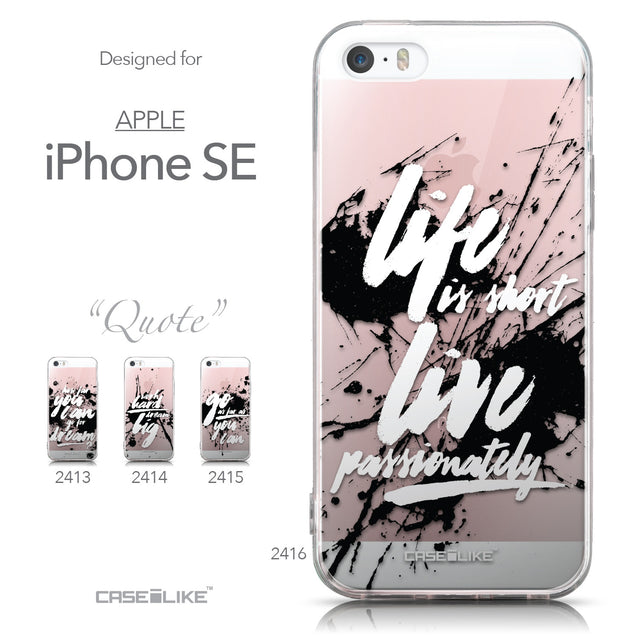 Collection - CASEiLIKE Apple iPhone SE back cover Quote 2416