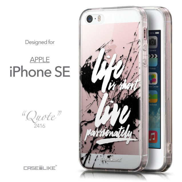 Front & Side View - CASEiLIKE Apple iPhone SE back cover Quote 2416