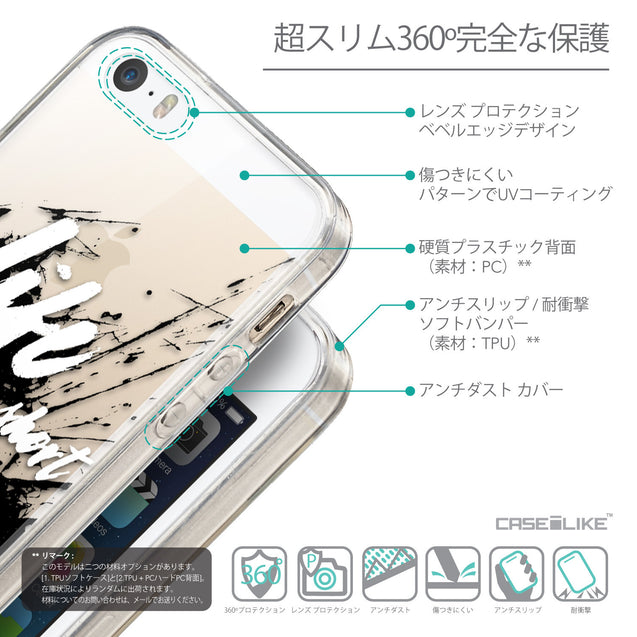 Details in Japanese - CASEiLIKE Apple iPhone SE back cover Quote 2416