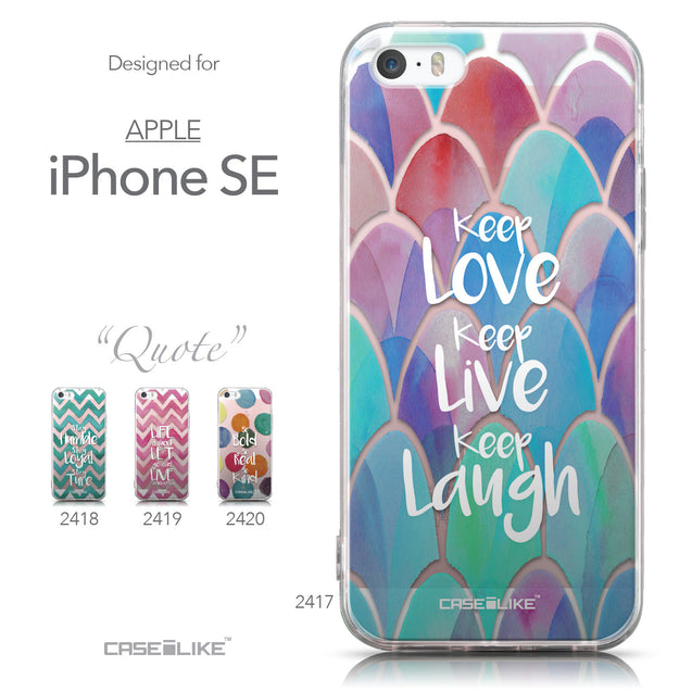 Collection - CASEiLIKE Apple iPhone SE back cover Quote 2417