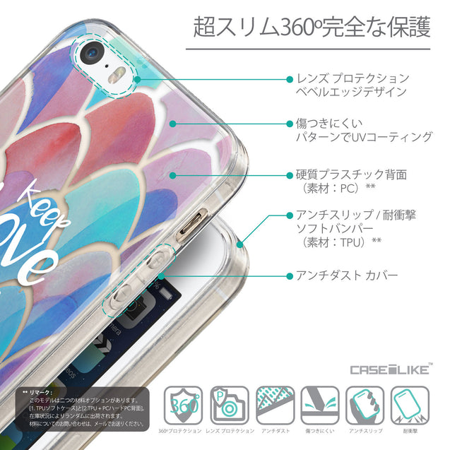 Details in Japanese - CASEiLIKE Apple iPhone SE back cover Quote 2417
