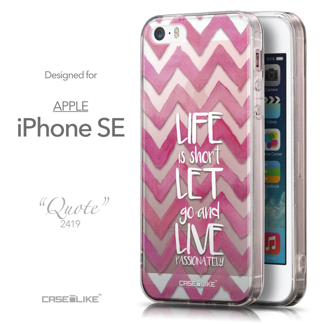 Front & Side View - CASEiLIKE Apple iPhone SE back cover Quote 2419