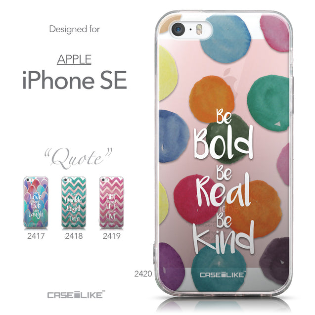 Collection - CASEiLIKE Apple iPhone SE back cover Quote 2420