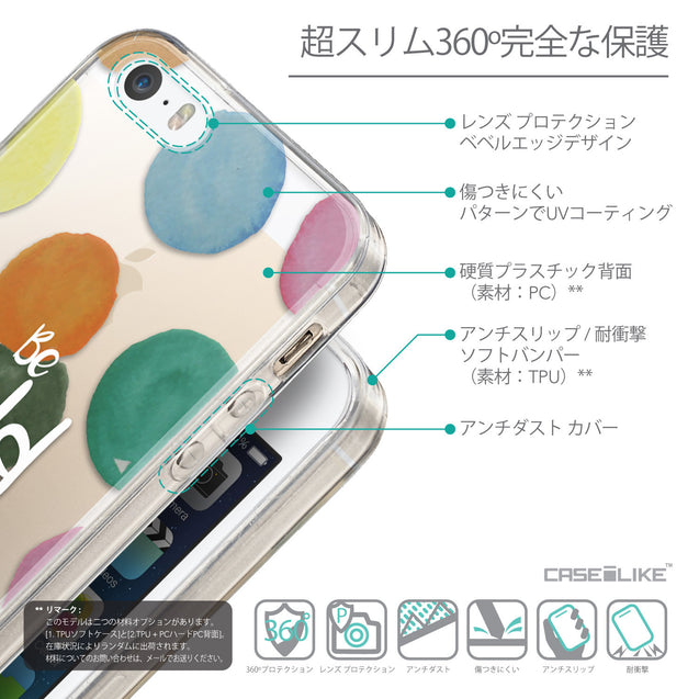 Details in Japanese - CASEiLIKE Apple iPhone SE back cover Quote 2420