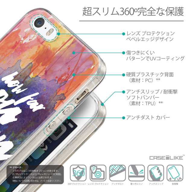 Details in Japanese - CASEiLIKE Apple iPhone SE back cover Quote 2421