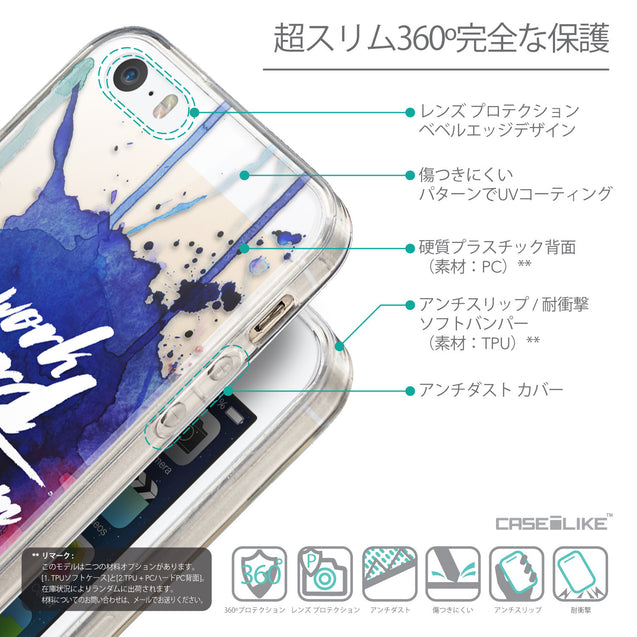 Details in Japanese - CASEiLIKE Apple iPhone SE back cover Quote 2422