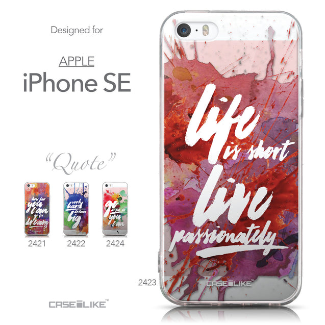 Collection - CASEiLIKE Apple iPhone SE back cover Quote 2423