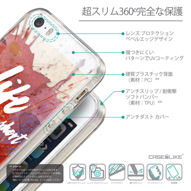 Details in Japanese - CASEiLIKE Apple iPhone SE back cover Quote 2423