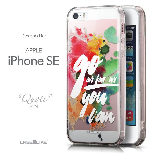 Front & Side View - CASEiLIKE Apple iPhone SE back cover Quote 2424