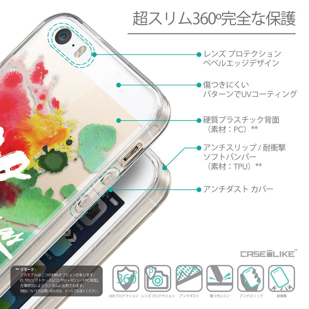 Details in Japanese - CASEiLIKE Apple iPhone SE back cover Quote 2424