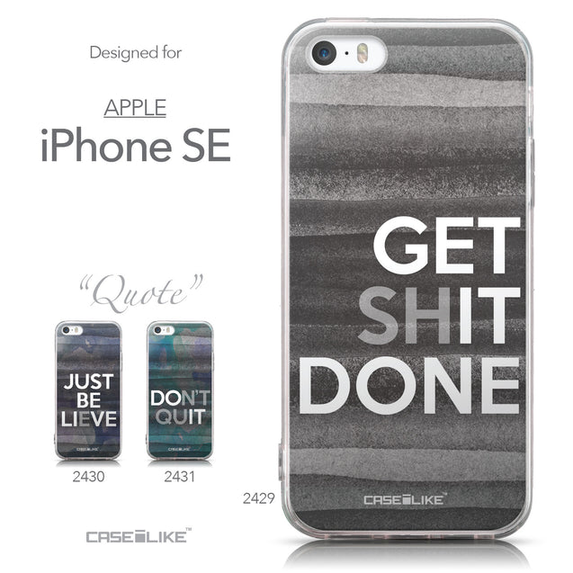 Collection - CASEiLIKE Apple iPhone SE back cover Quote 2429