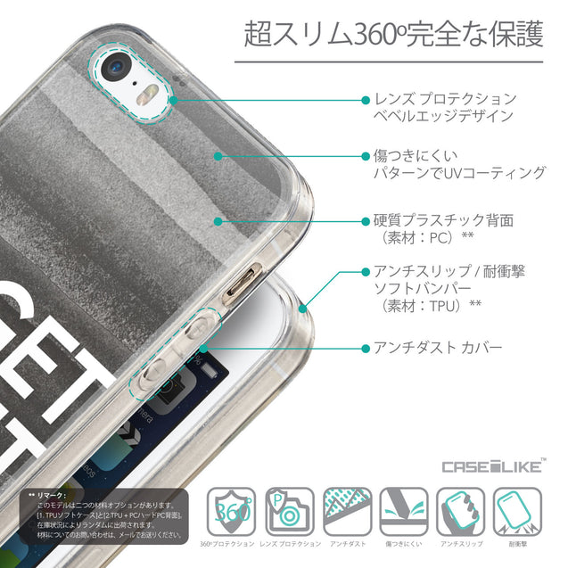 Details in Japanese - CASEiLIKE Apple iPhone SE back cover Quote 2429