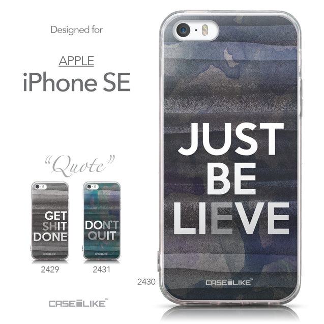 Collection - CASEiLIKE Apple iPhone SE back cover Quote 2430