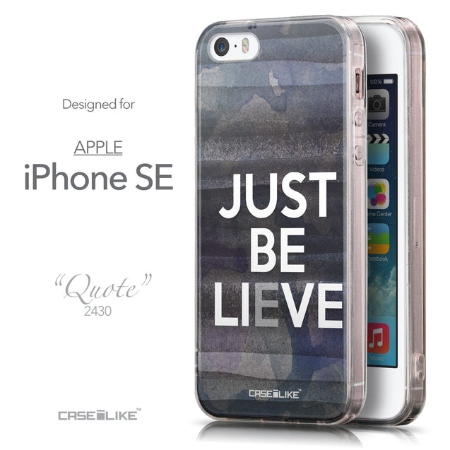 Front & Side View - CASEiLIKE Apple iPhone SE back cover Quote 2430