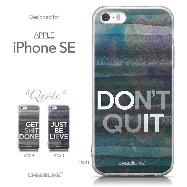 Collection - CASEiLIKE Apple iPhone SE back cover Quote 2431