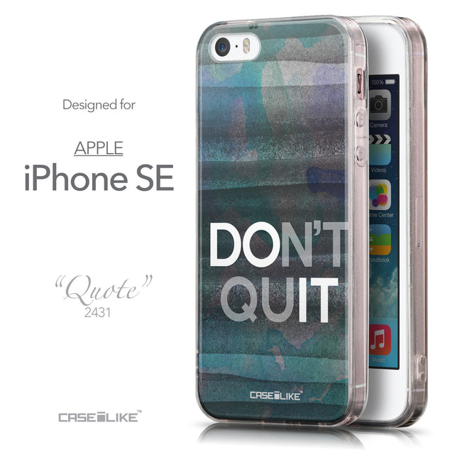 Front & Side View - CASEiLIKE Apple iPhone SE back cover Quote 2431