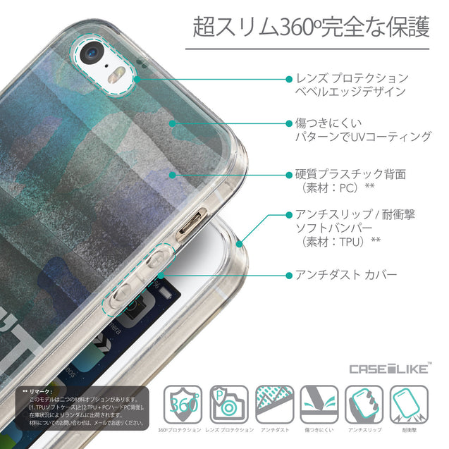Details in Japanese - CASEiLIKE Apple iPhone SE back cover Quote 2431