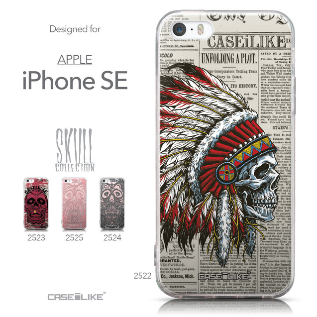 Collection - CASEiLIKE Apple iPhone SE back cover Art of Skull 2522