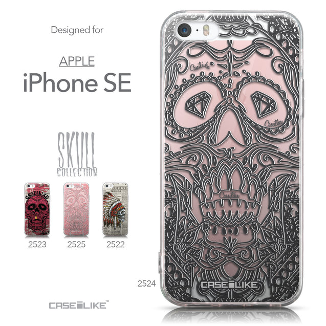 Collection - CASEiLIKE Apple iPhone SE back cover Art of Skull 2524