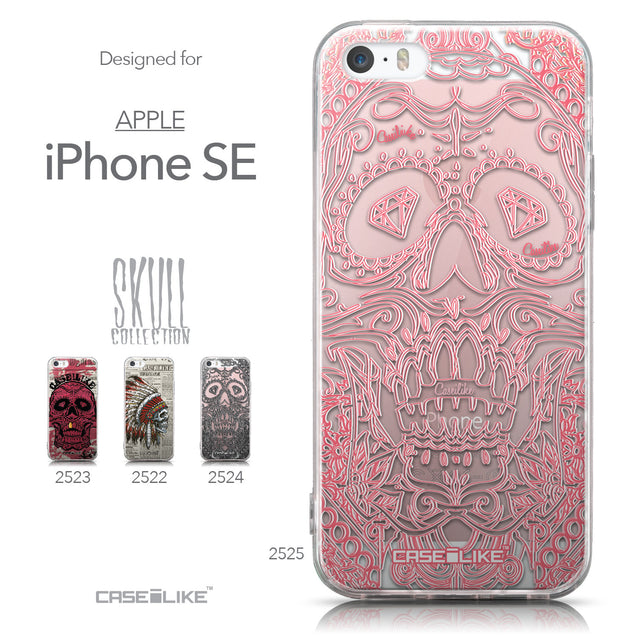 Collection - CASEiLIKE Apple iPhone SE back cover Art of Skull 2525